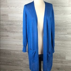 Halogen Long Cardigan Blue